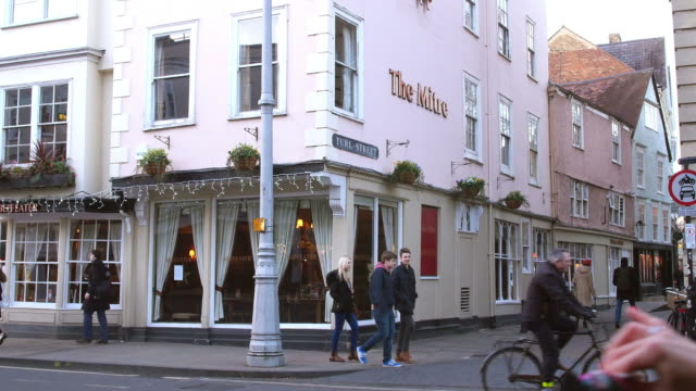 Exterior Of The Mitre Public House In Oxford City Centre video