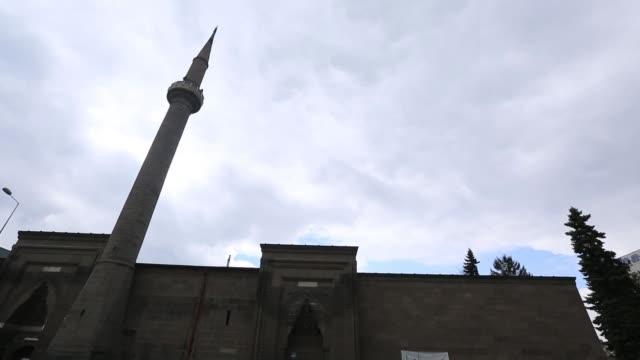 exteriör/entré vy över ' haci kilic ' mosque, kayser kayseri/turkiet 03/15/2017 - anatolien bildbanksvideor och videomaterial från bakom kulisserna