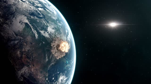 Extinction Level Event - Asteroid Impact Causing Apocalyptic Destruction video