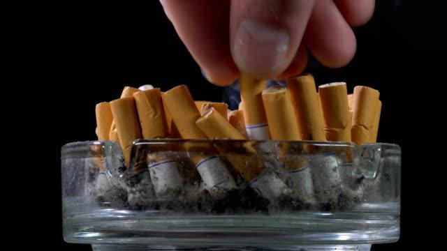 släcka en cigarett i en askkopp - släcka bildbanksvideor och videomaterial från bakom kulisserna