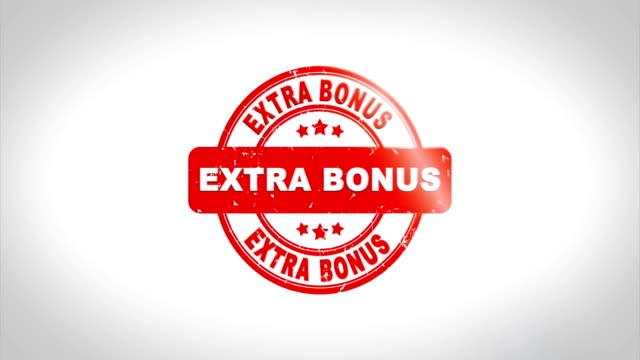 extra bonus signed stamping text wooden stamp animation. - bonus video stock e b–roll