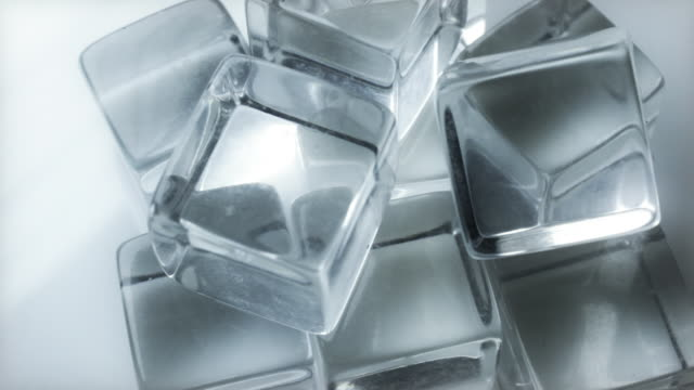 Extreme Close up of Slow Rotating Ice Cubes video