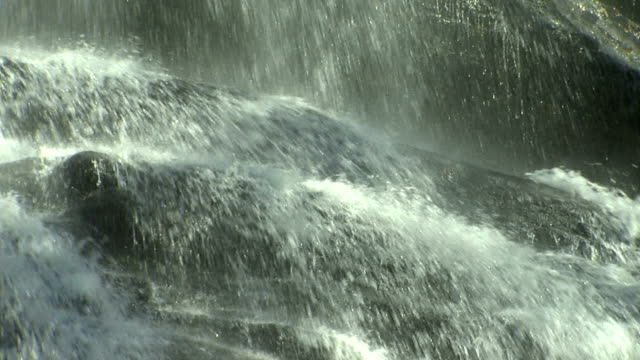 Extreme Close up of Upper falls video