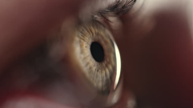 Extreme Close-up of Blue Human Eye Female human eye details. close to stock videos & royalty-free footage
