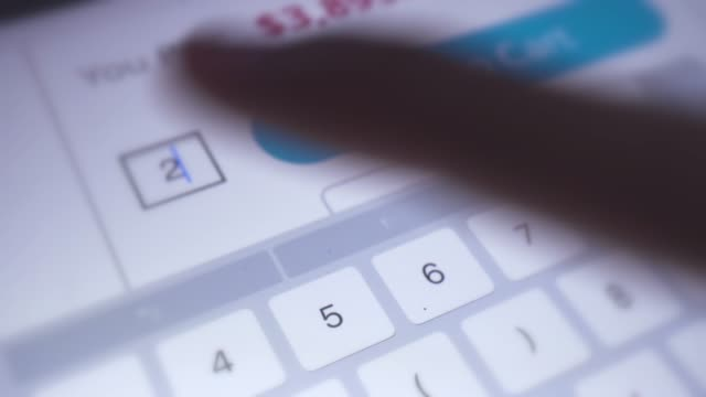extreme close-up of online shopping with digital tablet - electronic banking stock videos & royalty-free footage
