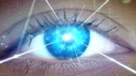 istock Extreme closeup on blue eye. Entering human mind 1167979998