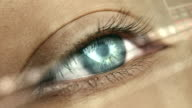 istock Extreme closeup on blue human eye 1167982025