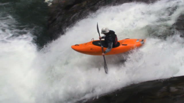 Extreme kayaking in Veracruz, Mexico, slow motion video