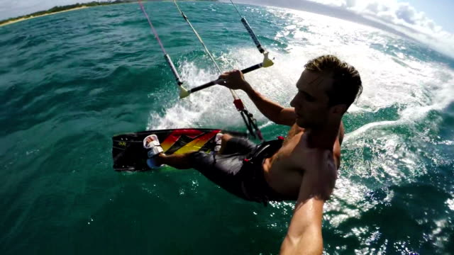 Extreme POV Kite Surfing video