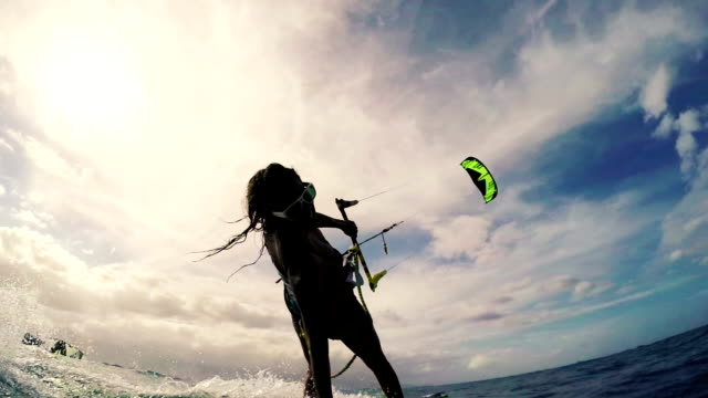 Extreme Sport Kitesurfing. video