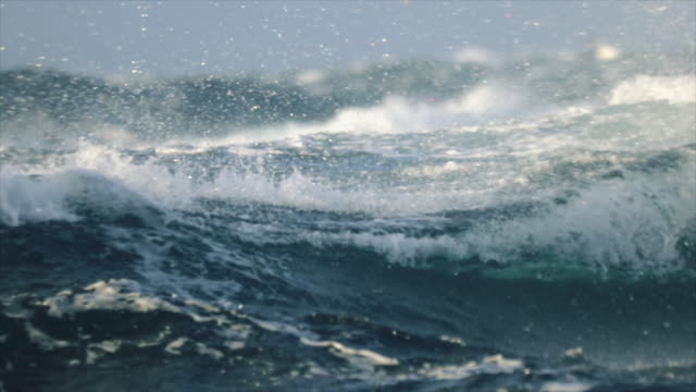 Extreme stormy rough sea video