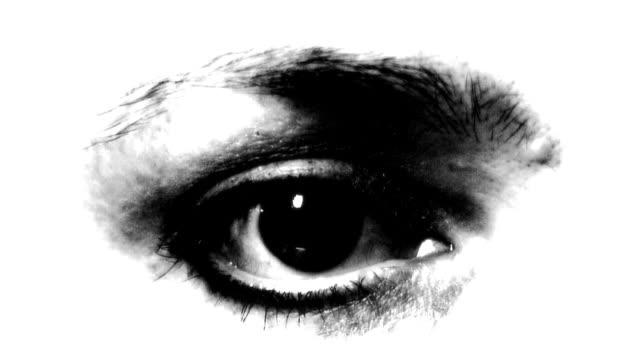 eye 03 monochrom hd - kontrastreich stock-videos und b-roll-filmmaterial