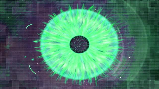 vídeos y material grabado en eventos de stock de ojo concepto de futuro digital - escáner plano