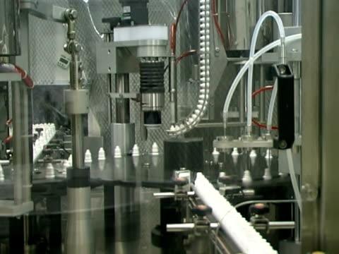 Eye drops production line. video