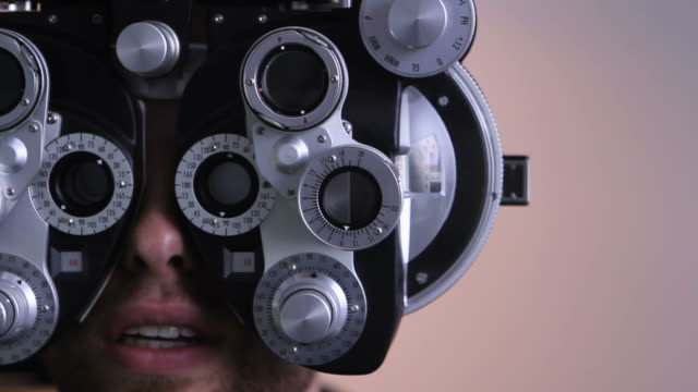 Eye exam at the opthalmologist video