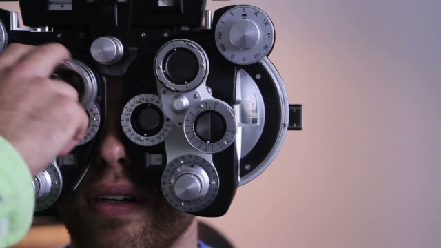 Eye exam at the Optometrist video