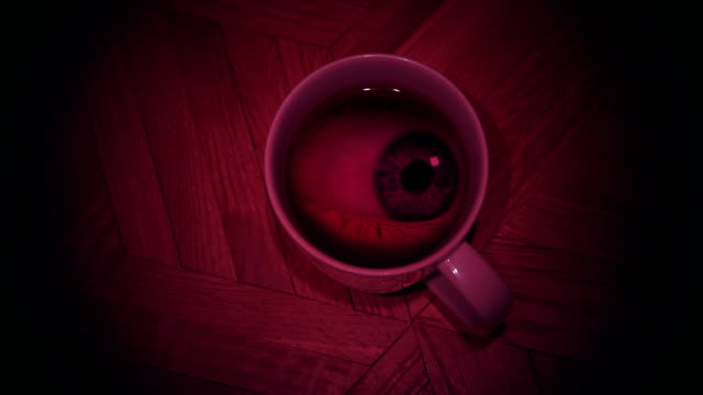 Eye in a glass. video