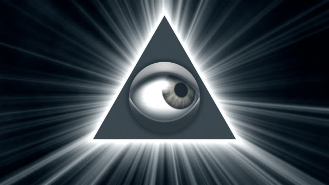 eye of providence loop - conspiracy стоковые видео и кадры b-roll
