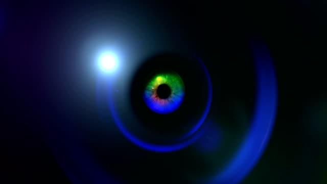 Eye on Camera Lens