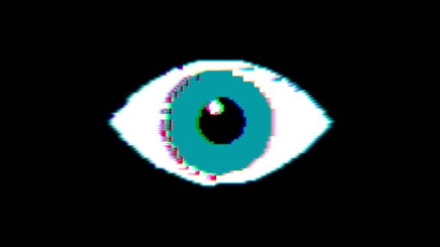 Eye pixel animation with optional luma matte. Alpha Luma Matte included. 4k video
