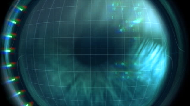 Eye scanner-Zugang gewährt. PAL – Video