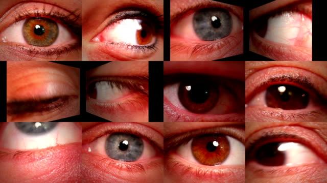 vídeos de stock e filmes b-roll de globo ocular montagem - contacts