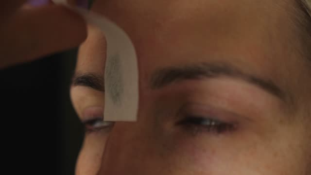 eyebrow hair removal with wax epilation depilation eyebrow hair removal with wax epilation depilation molding a shape stock videos & royalty-free footage