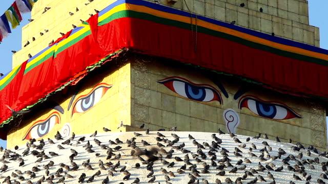 eyes Boudhanath stupa video