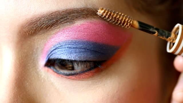 Sombreador de ojos maquillaje - vídeo
