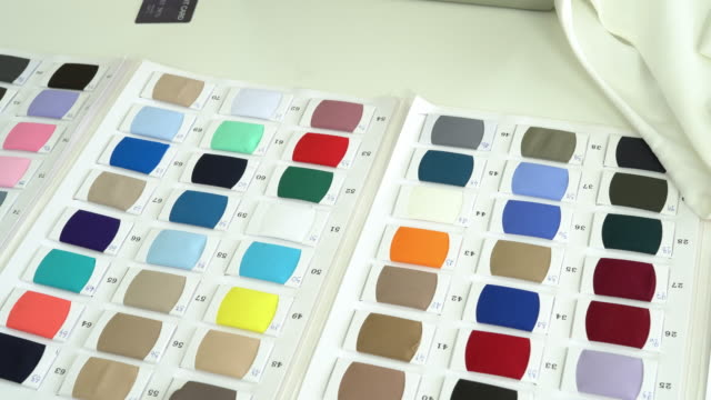 Fabric swatches for fashion designer
