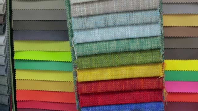 Fabric Swatches Fabric Swatches with different colors fabric swatch stock videos & royalty-free footage