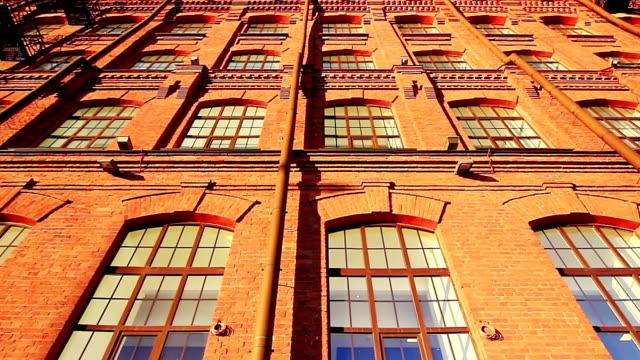 Facade of a red brick building video