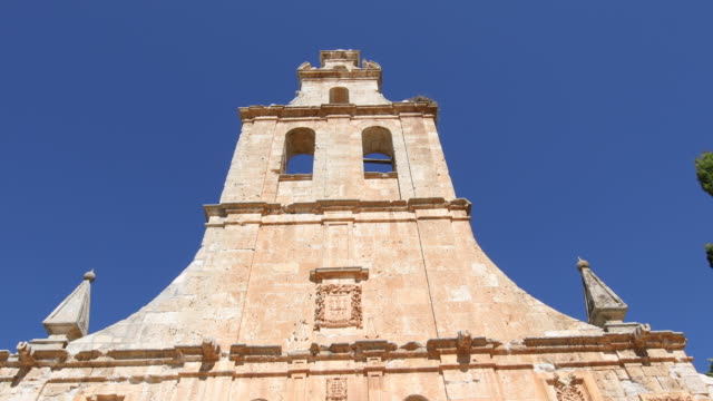 facade of convent in Ayllon from belfry to Saint video