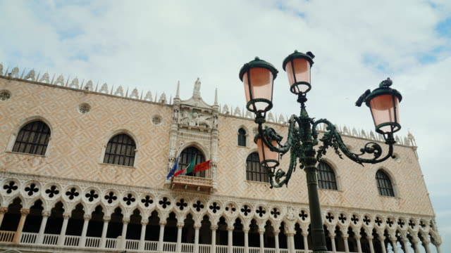 Facade of the famous Doge's Palace in Venice video