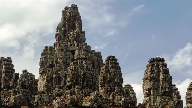 Face of God at Bayon stone castle video