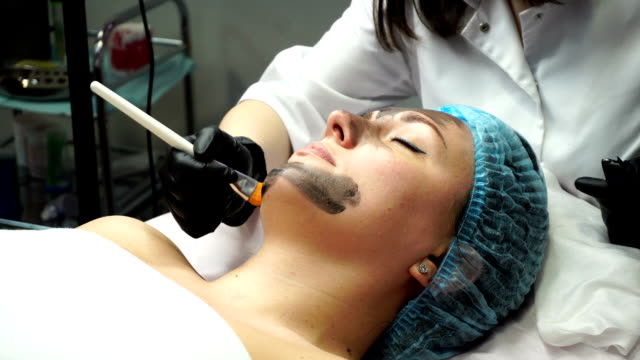 Face Preparation For Cosmetic Procedure Stock Video