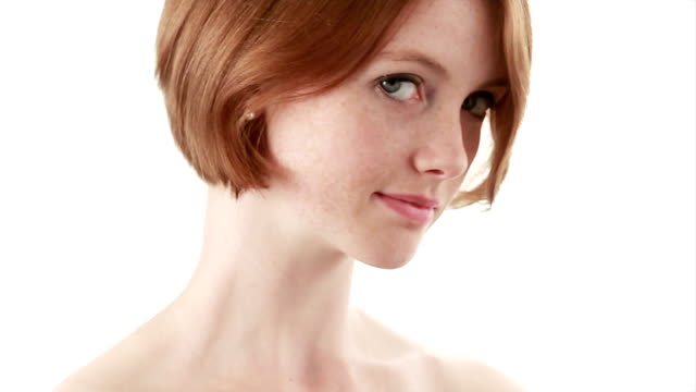 Facial beauty Red hair   HE video