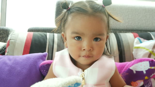 facial expression by Asian little girl video