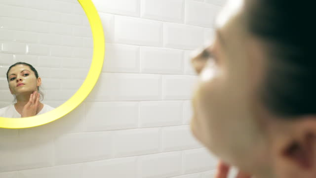 Facial mask treatment. video