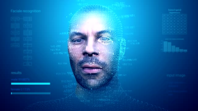 Facial Recognition System Facial Recognition System in motion medical scanner stock videos & royalty-free footage