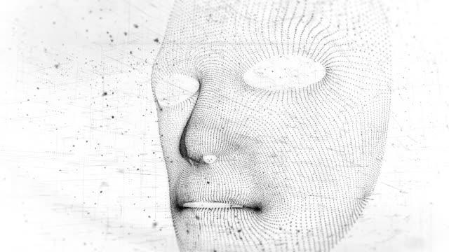 ansiktsigenkänning - människohuvud bildbanksvideor och videomaterial från bakom kulisserna