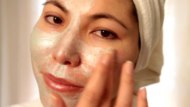 Facial scrub video