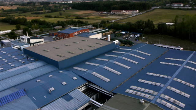 factory aerial video