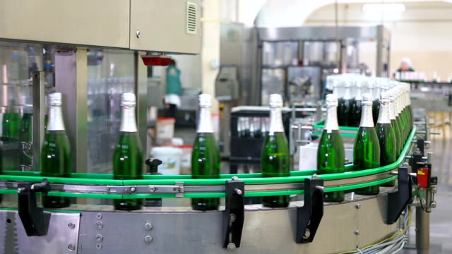Factory for the production of champagne. video