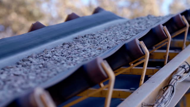 Factory for the production of gravel for road construction video