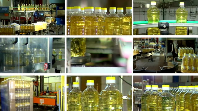 Factory for the production of refined sunflower oil video
