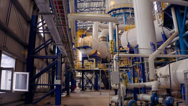 stockvideo's en b-roll-footage met factory pipeline-bovenaanzicht - raffinaderij