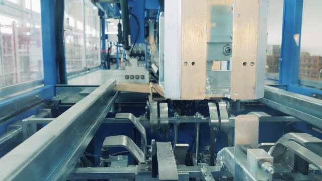 Factory press is manufacturing carton boxes