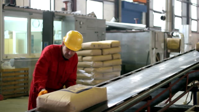 Factory Worker at Work video