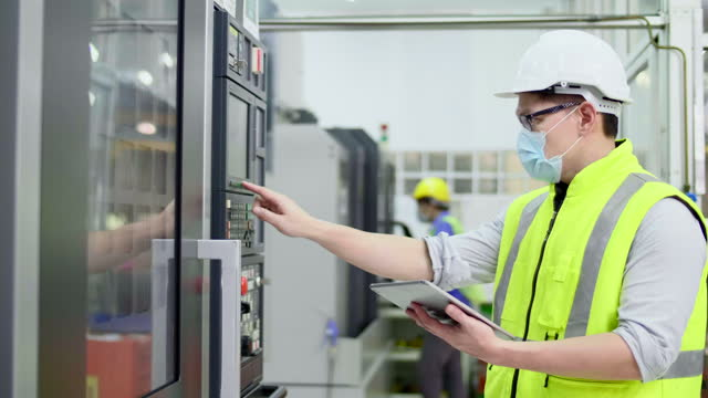 Factory worker Operate a machine Industry, Illuminated, Factory, Electricity, Fuel and Power Generation power supply stock videos & royalty-free footage